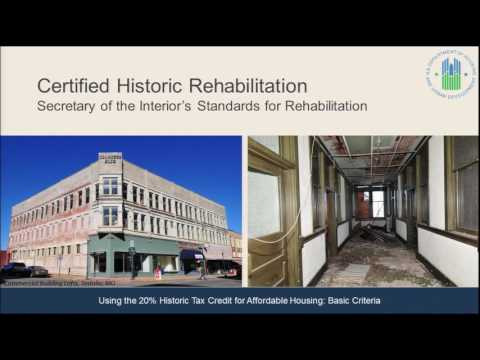 Using the Historic Tax Credit