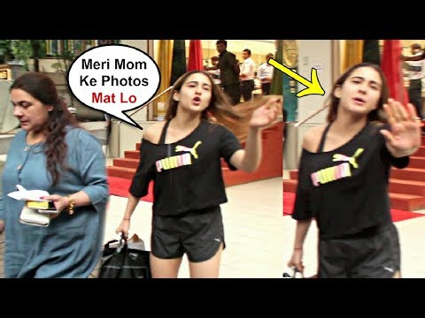 Sara Ali Khan Gets Angry On Media For Taking Mother Amrita Singh Photos