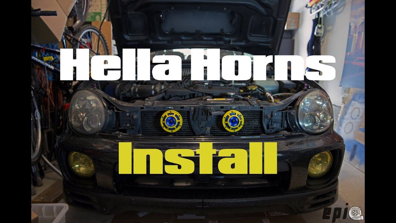 How To Install Hella Horns 2002 Subaru Wrx Youtube 2000 Outback Lighting Wiring Diagram