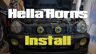 How To Install Hella Horns 2002 Subaru WRX