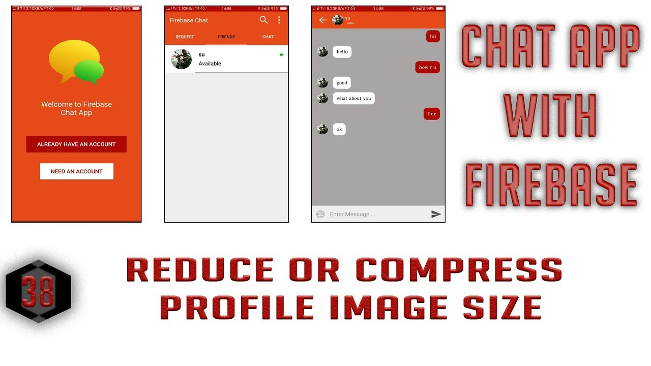 Reduce or Compress Profile Image Size #38 Android Firebase Chat App in  Hindi/Urdu