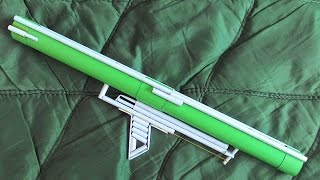 How to make a Paper Bazooka that Shoots - (Super Powerful / Easy)