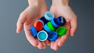 Что можно сделать из крышек от пластиковых бутылок / What can be made out of plastic bottle lids thumbnail