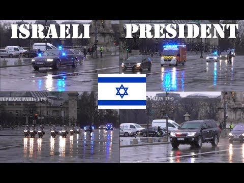 Israel's President  Convoy In Paris