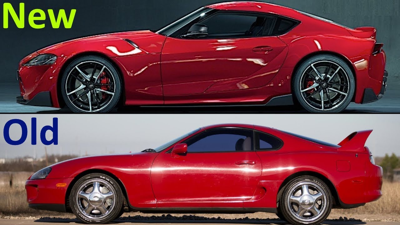 new 2020 toyota supra vs old 2002 toyota supra youtube. Black Bedroom Furniture Sets. Home Design Ideas