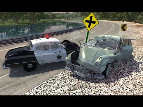 Beamng Drive Mod Gaz M20 Classic Car Crash Test Doovi
