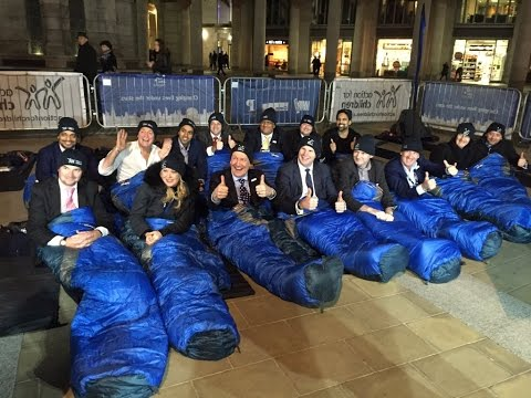 That night we slept rough on the streets of London