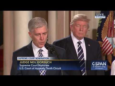 President Trump nominates Judge Neil Gorsuch for  Supreme Court (C-SPAN)