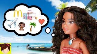 historias con disney moana vaiana mueca aventuras barbie elsa anna y bebes