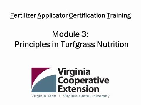 Principles in Turfgrass Nutrition