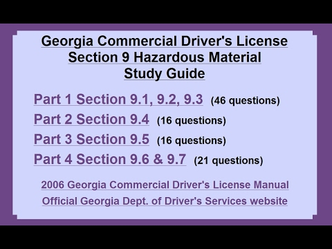 georgia commercial drivers license manual