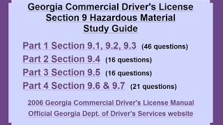 Commerical Driver Hazardous Materials Endorsement Study Guide
