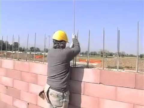 Blocchi Calcestruzzo Per Muri.Esempio Posa Blocchi Sistema Biopluspaver Youtube