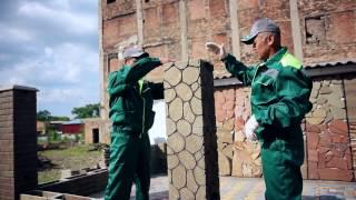 видео наборные бетонные заборы