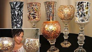 Video Mosaic Mirror Vases | 4 Dollar Tree DIYs download MP3, 3GP, MP4, WEBM, AVI, FLV Oktober 2019