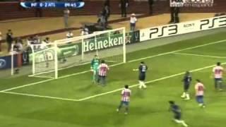 Inter Milan vs Atletico Madrid (0-2) - DIEGO MILITO PENALTY - UEFA Super Cup 2010 - 27.08.2010.flv
