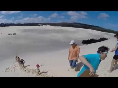 Twinbo Dairy- Australia Tangalooma sand tobogganing