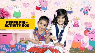 Maanya \u0026 Pucchu   Peppa Pig   Kids Drawing   Peppa Pig Toys   Activity Box