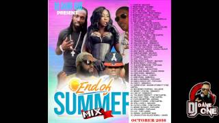 DJ DANE ONE - END OF SUMMER DANCEHALL MIX ( OCTOBER 2016 )