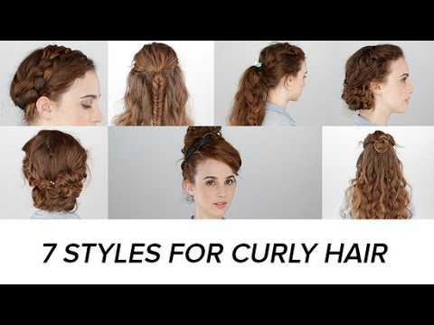 7 Easy Hairstyles For Curly Hair Beauty Junkie YouTube
