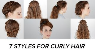 7 Easy Hairstyles For Curly Hair | Beauty Junkie