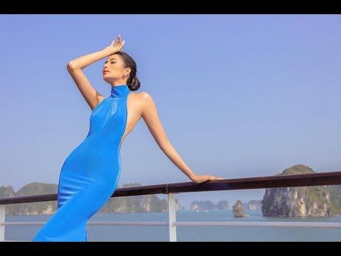 Hoàng Thùy  lộng lẫy  trên du thuyền, làm  vedette trong show  Fashion Voyage