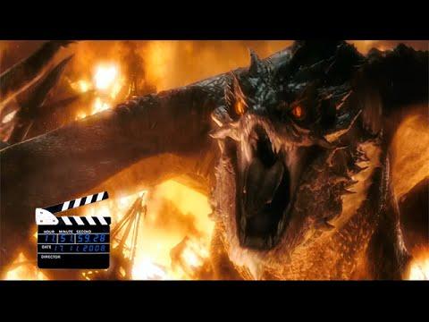 Отрывок из фильма Хоббит: Битва пяти воинств, смерть Смауга