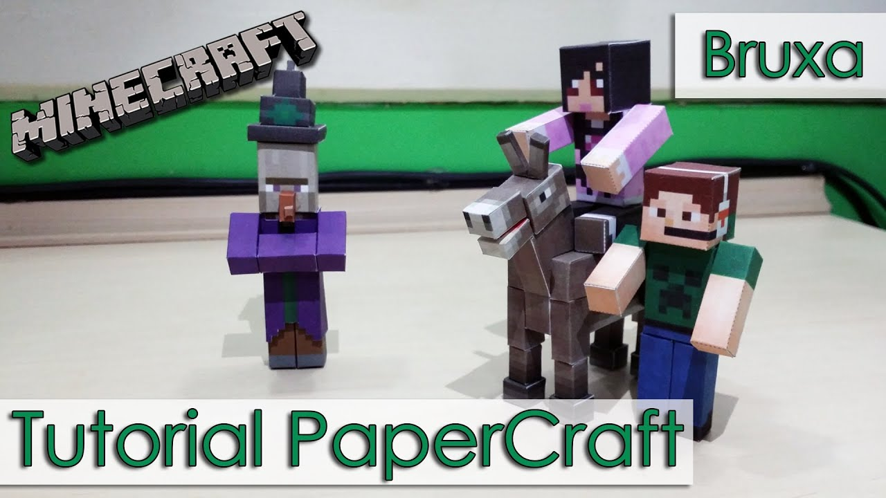 Papercraft Tutorial PaperCraft Minecraft - Bruxa / Witch
