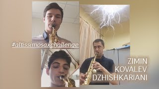 Zimin, Kovalev, Dzhishka | Altissimo sax challenge.