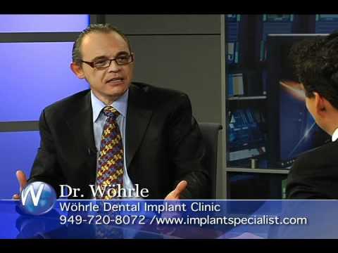 Dr. Wohrle, Newport Beach DMD,  discussing dental Implants with Randy Alvarez.