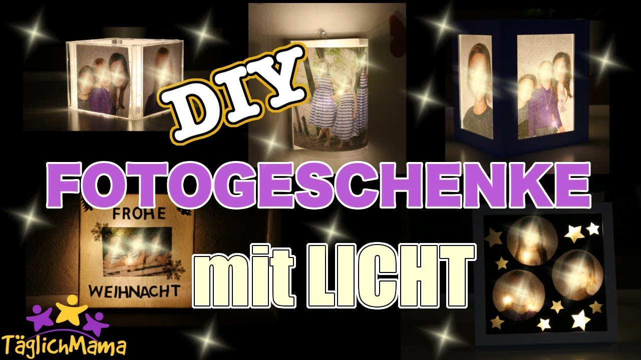 5 diy leuchtende fotogeschenke geschenke f r gro eltern paten etc t glich mama youtube. Black Bedroom Furniture Sets. Home Design Ideas