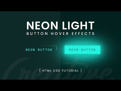 Neon Light Button Animation Effects On Hover | CSS Snake Border