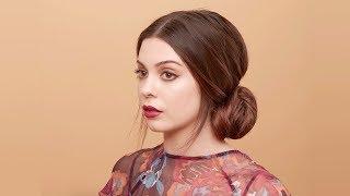 Aveda How-To | Holiday Ponytail Bun Hair Tutorial with Sarah Naslund