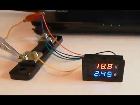 Вольтметр 100V + амперметр 50А подключаем шунт  digital voltmeter ammeter