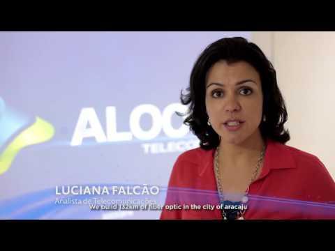 Luciana Falcão, Analista de Telecomunicações   Aloo Telecom  Aloo Telecom - LEGENDA INGLÊS