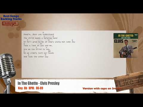 In The Ghetto - Elvis Presley Vocal Backing Track with chords and lyrics