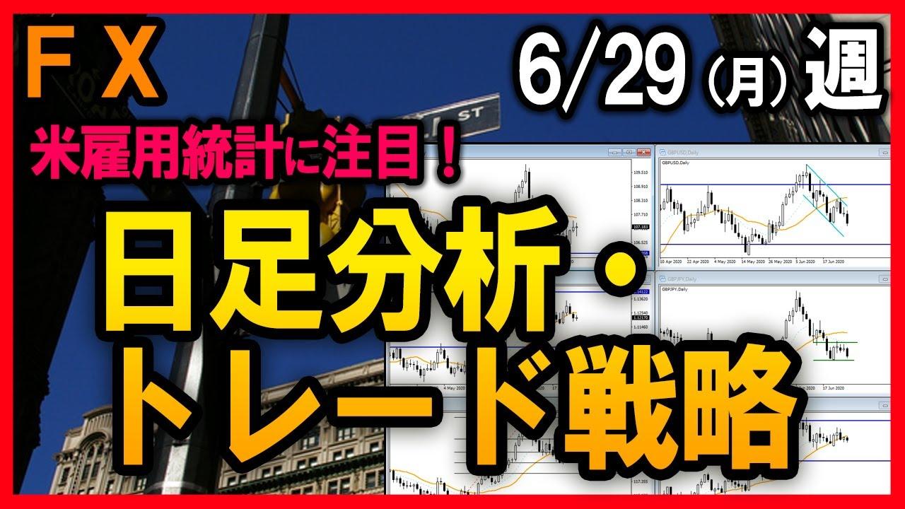 7月米雇用統計に注目!FX日足分析【2020/6/29週】