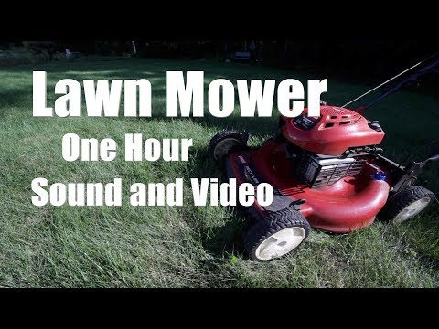 Lawn Mower Sound and Video 1 Hour