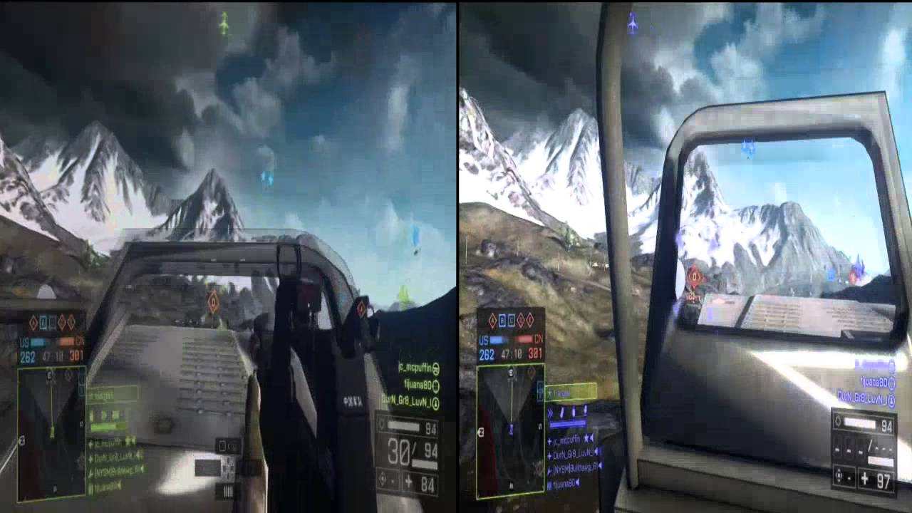 Battlefield 4 Altai Range Split Screen Youtube