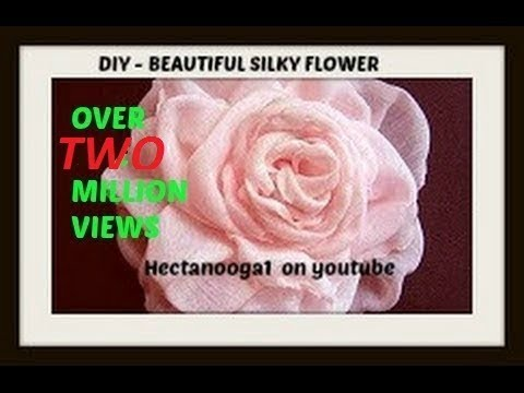 How to make a beautiful silky flower. Fabric flower tutorial