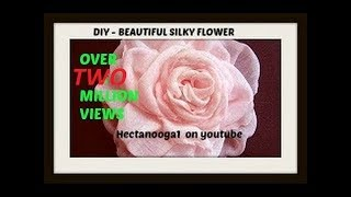 How to make a beautiful silky flower. Fabric flower tutorial thumbnail