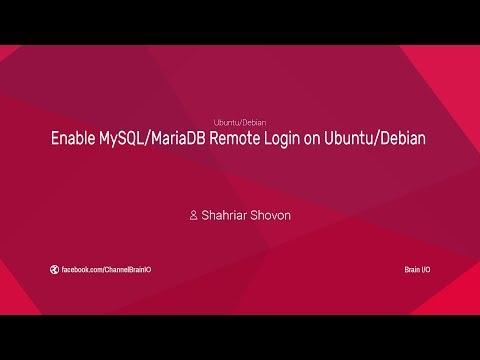 Enable Mysql/mariadb Remote Login On Ubuntu/debian
