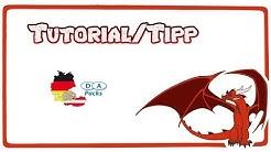 Tutorial/Tipp   D A Packs  German  RedDragonGamer