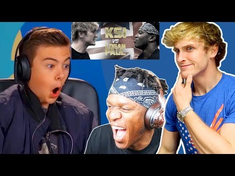 LOGAN PAUL REACTS TO KSI REACTING TO KIDS REACTING TO LOGAN PAUL VS. KSI!