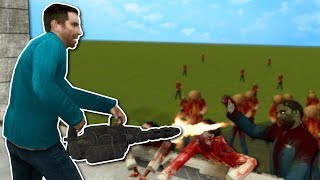 DEFENDING CASTLE AGAINST ZOMBIES!? - Garry's Mod Gameplay - Gmod Zombie Building Roleplay