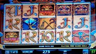 Cleopatra Slot Bonus $25 High Limit Bet **LIVE PLAY BONUS**