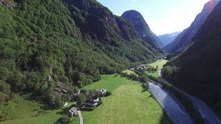 DJI Phantom 4k - Winding roads of western Norway