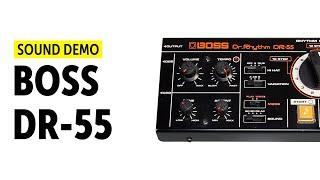 Boss Dr. Rhythm DR-55 - Drum Machine Sound-Demo