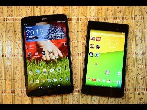 LG G Pad 8.3 vs Nexus 7 2013: обзор-сравнение по дизайну, играм, скорости