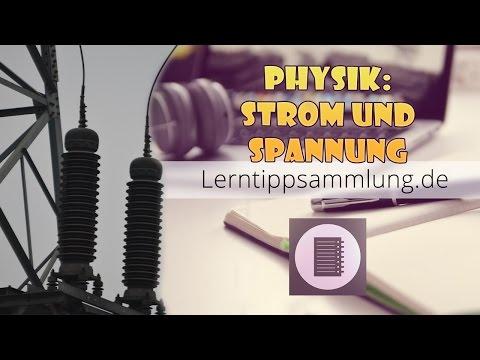 Strom und Spannung einfach erklärt - Physik - Lerntippsammlung.de